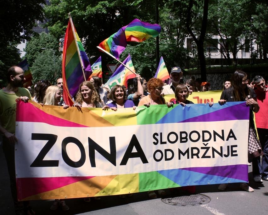 """Akcijom """"Zona slobodna od mržnje"""" obeležen Međunarodni Dan ponosa u Beogradu"""