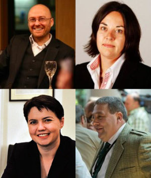 Patrik Harvi, Kezija Dagdejl, Rut Dejvidson i Dejvid Koburn
