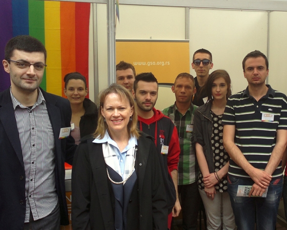 Meri Vorlik i Antje Rotemund posetile štand GSA na Sajmu OCD